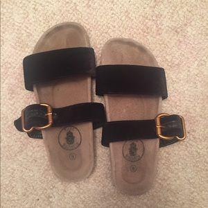 Nordstrom Birkenstock Velvet Strap Sandals CUTE!